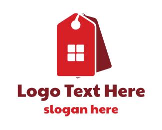 Home - Red Home Sale logo design