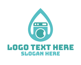 Droplet - Drop & Clean logo design