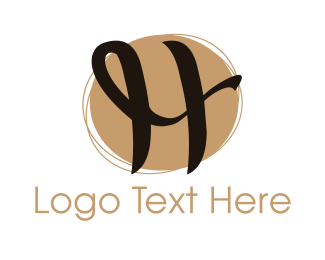 Luxury - Curly Letter H logo design