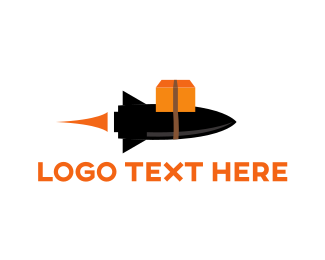 Courier Service - Delivery Rocket  logo design