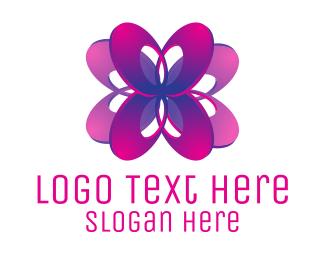 Flower Shop - Ellipse Flower logo design