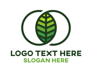 Organic Food - Infinity Leaf logo design