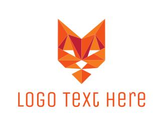 Origami - Diamond Cat logo design