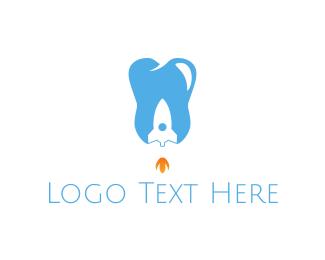 Molar - Dental Rocket logo design
