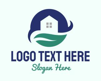 Subdivision - Moon Leaf House  logo design
