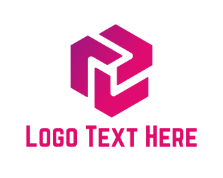 Business - Pink Cube logo design