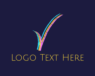 Verification - Colorful Check  logo design