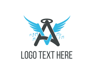 Choir - Angel Music logo design