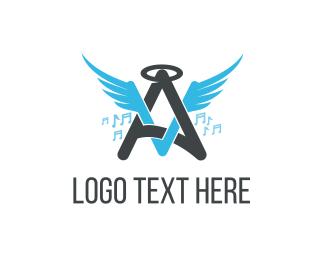 Angel - Angel Music logo design