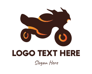 Motorcycle - Brown Motorcycle logo design