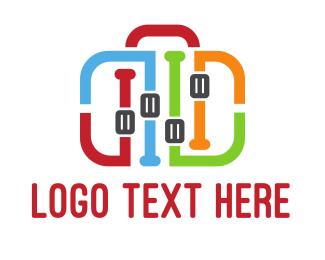 Baggage - Equalizer Bag logo design