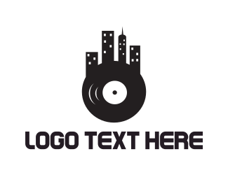 Music Store - Vinyl City logo design