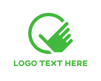 Finger - Green Hand logo design