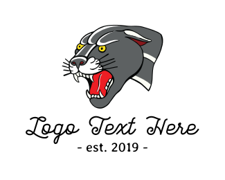 Traditional - Panther Mascot logo design