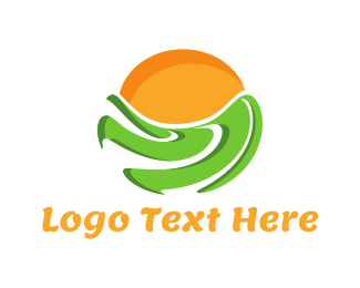 Land - Green Field logo design
