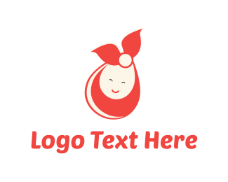 Doll - Cute Baby logo design