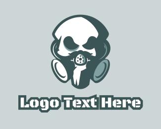 War - Toxic Skull logo design