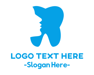 Orthodontist - Blue Profile Tooth logo design
