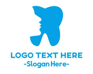 Dental Clinic - Blue Profile Tooth logo design