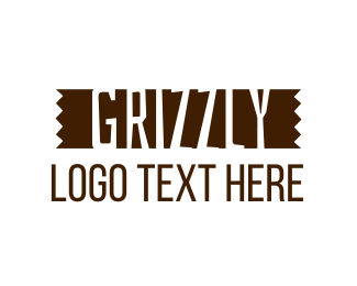 Lumberjack - Grizzly Lumber Wordmark logo design