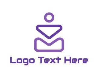Violet - Abstract Violet Shapes logo design
