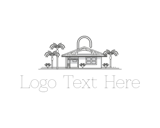Secure - Padlock House logo design
