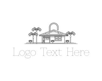 Airbnb - Padlock House logo design