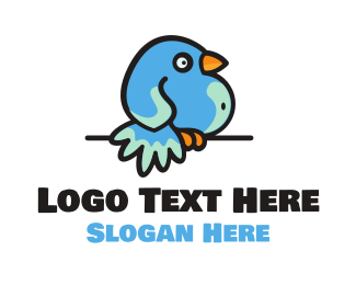 Twitter - Fat Bird logo design
