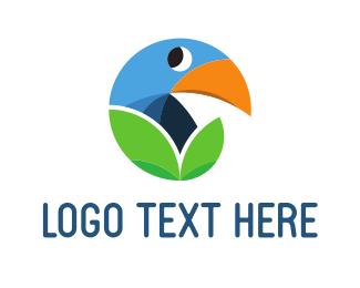 Toucan - Bird & Leaf logo design