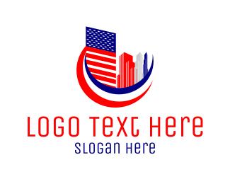 Skyscraper - American City logo design