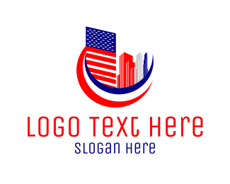 Patriotic - American City logo design