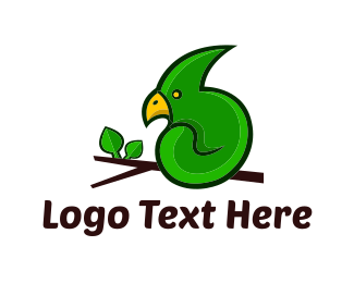 Green And Brown - Green Parrot  logo design