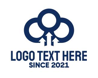 Upload - Cloud & Arrows logo design