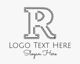 Disc Jockey - Letter R logo design