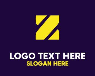 """Stencil Yellow Z"" by BrandCrowd"