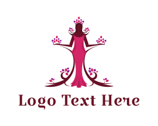 Dress - Flora Princess logo design