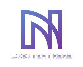 Modified - Purple N Outline logo design