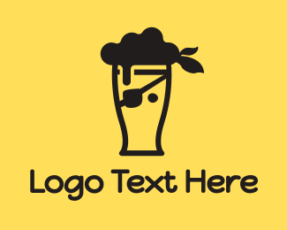 Stag Party - Pirate Beer logo design