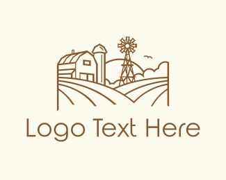 Windmill - Minimalist Farmhouse logo design