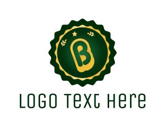 Wheat - Stamp Letter B logo design