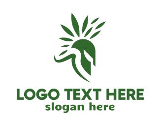 Sparta - Spartan Leaf logo design