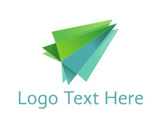 Airplane - Green Plane logo design