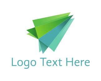 Rocket - Green Plane logo design