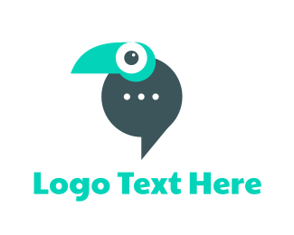 App - Parrot Messaging App logo design
