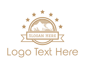 Outdoor - Mountain & Stars logo design