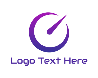 Vehicle - Neon Purple Speedometer logo design