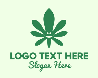 Prohibited - Cannabis Leaf Smile logo design
