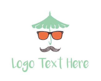Vintage - Moustache & Sunglasses logo design