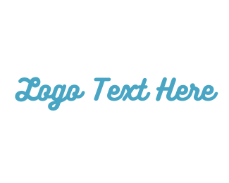 Fun - Blue Fresh Text logo design