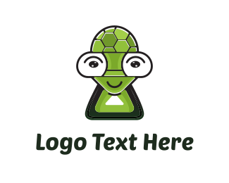 Virtual Reality - Turtle Character logo design
